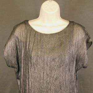 3 for $10-- Express XS Blouse Black Silver Shiny